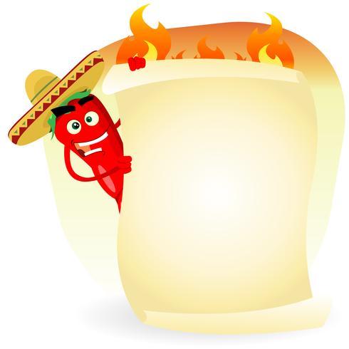 Banner di spezie ristorante cibo messicano vettore