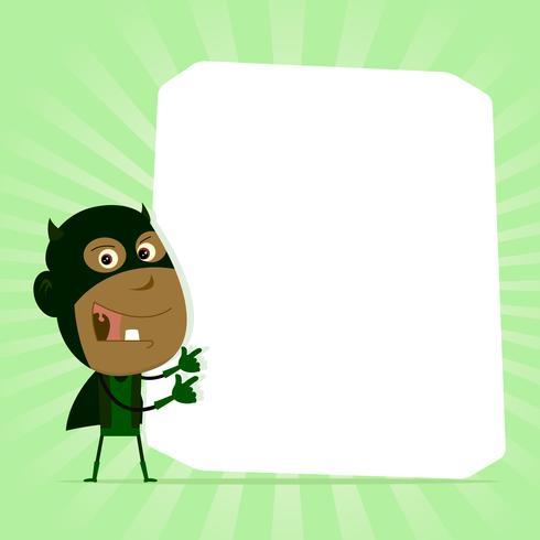 niño negro signo de superhéroe