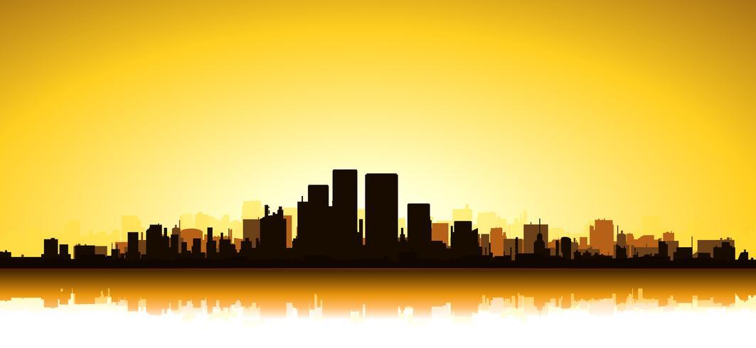 Paysage urbain d'or