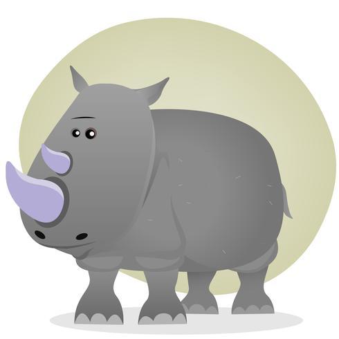 Söt Cartoon Rhino