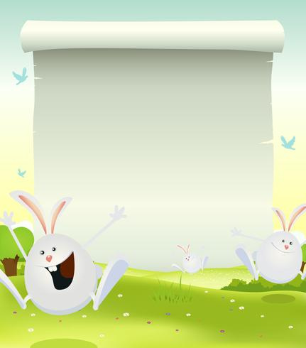 Spring Easter Bunnies Background