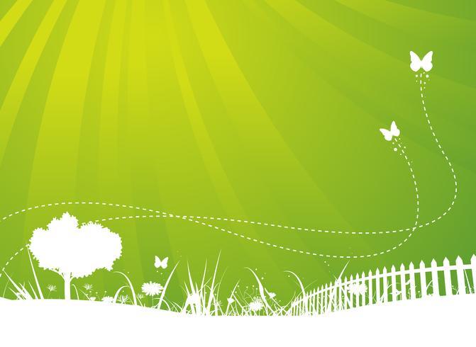Frühling und Sommer-Schmetterlings-Garten-Hintergrund