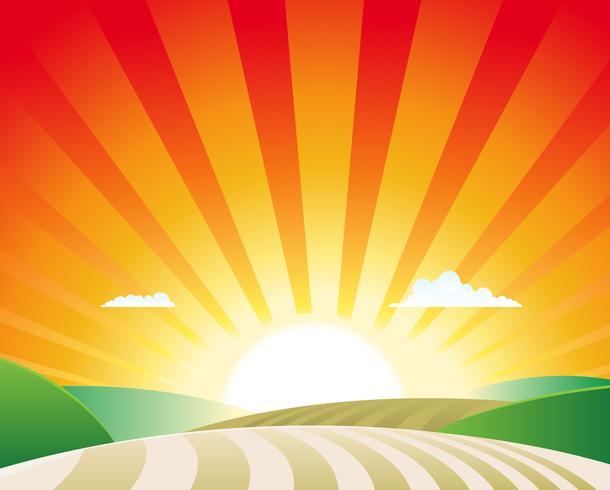 Paisagem da agricultura vetor