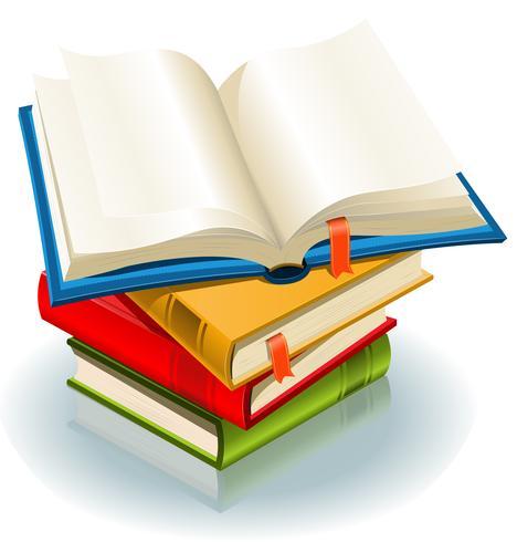 Hög med böcker vektor