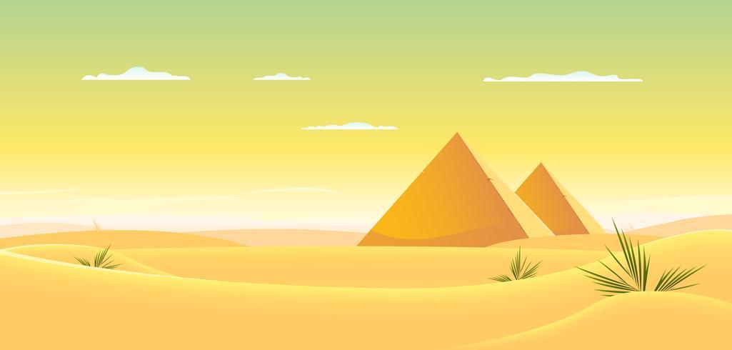 Pirámide egipcia vector