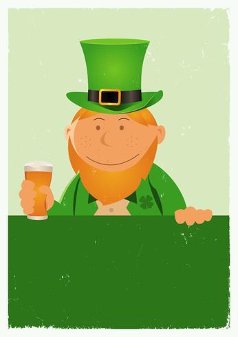 Affiche grunge du jour de la St. Patrick