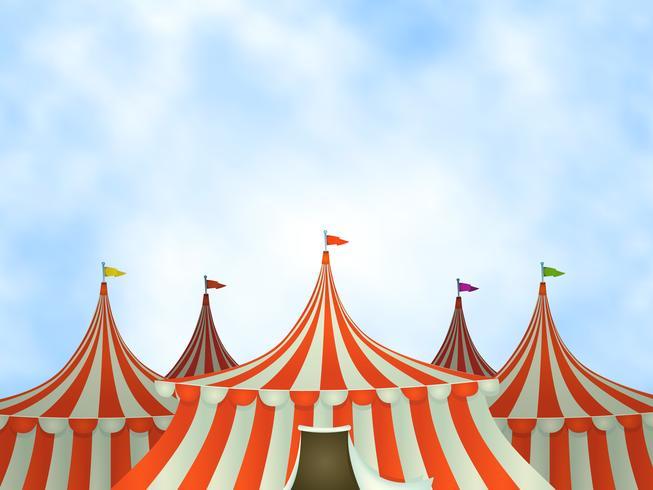 Sfondo di tende da circo