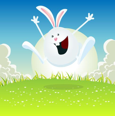 Cartoon Easter Bunny vector
