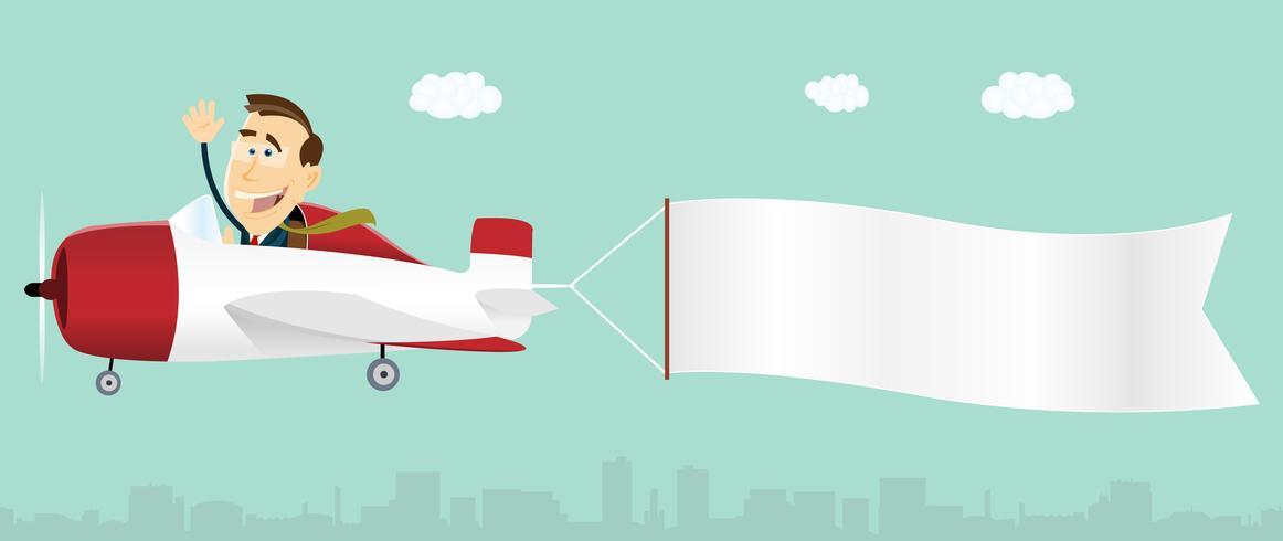 Avião Publicitário em Banner