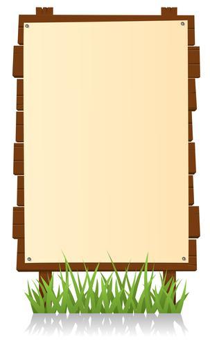 Panneau d'affichage vertical en bois