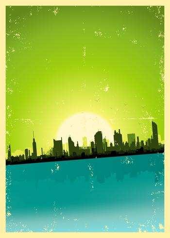 Grunge City Landscape