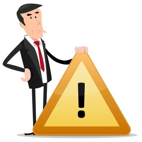 Señal de advertencia de empresario