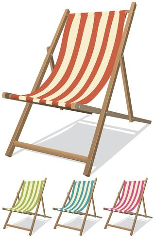 Juego de sillas de playa vector