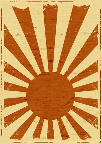 fond de rayons de soleil japonais grunge
