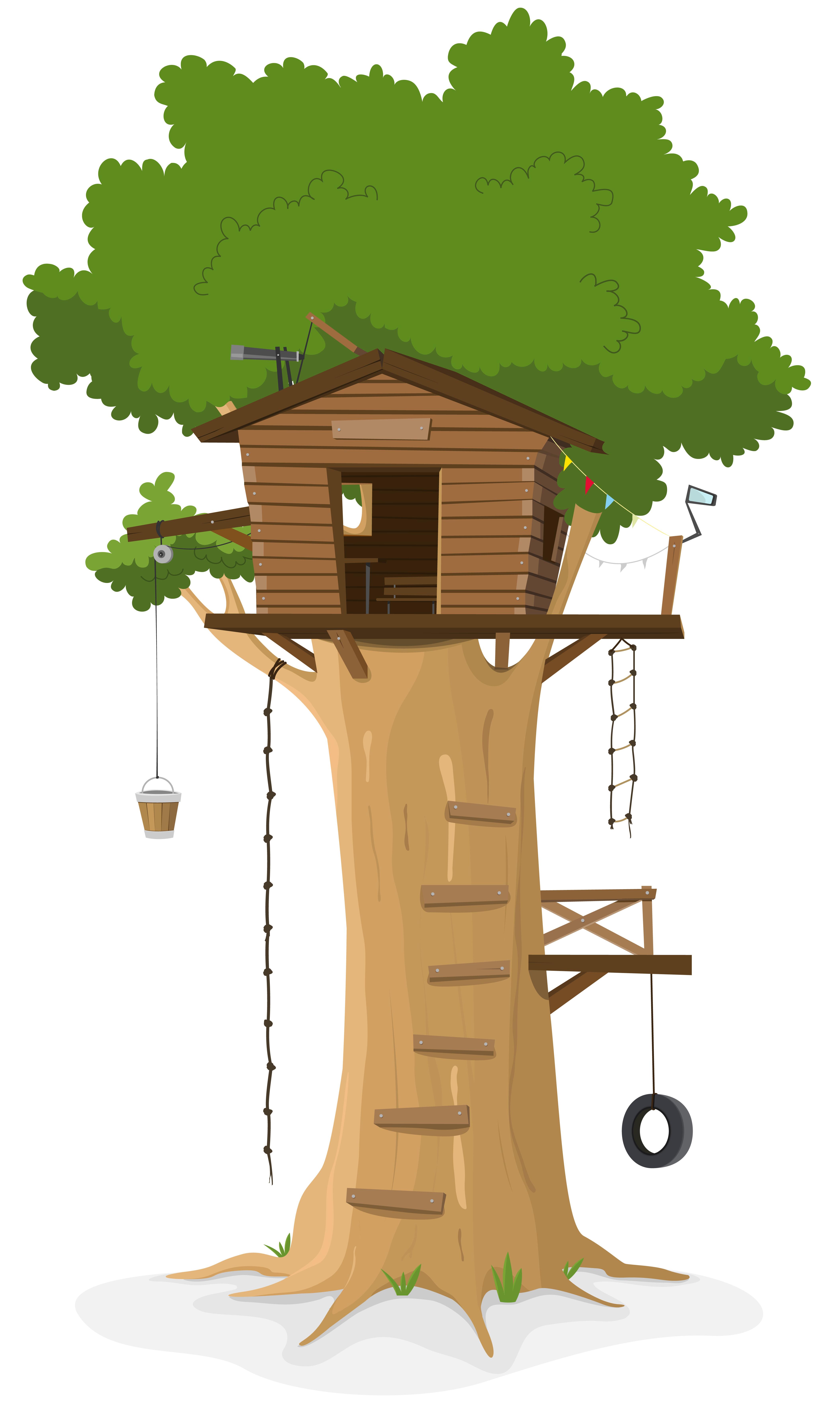 Cabane dans les arbres - Telecharger Vectoriel Gratuit, Clipart Graphique, Vecteur Dessins et ...