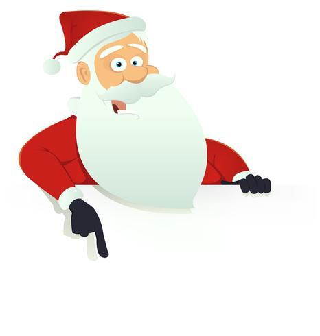 Santa Claus Blank Sign vector