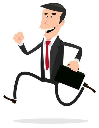 Karikatur hastig Geschäftsmann