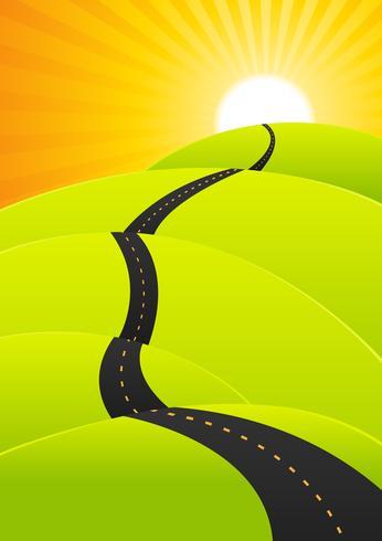 Voyage d'été - Long voyage sur la route