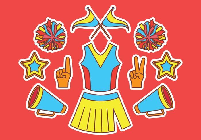 Cheerleader Elements Vector