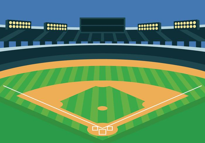 Honkbalpark vectorillustratie
