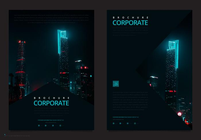 Modèle de brochure professionnelle. Modèle de Flyer de marketing d'entreprise