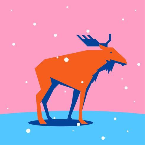 Elche geometrische einfache Form Tiere