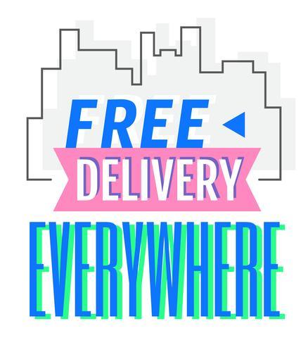 Livraison gratuite vecteur