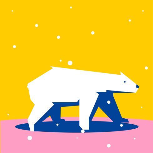 isbjörn geometriska enkla formade djur