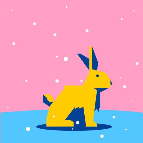 Kaninchen-geometrische einfache Formtiere
