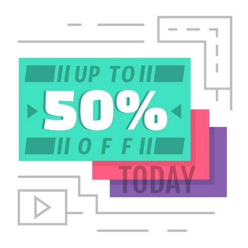 50% Off Today! vector