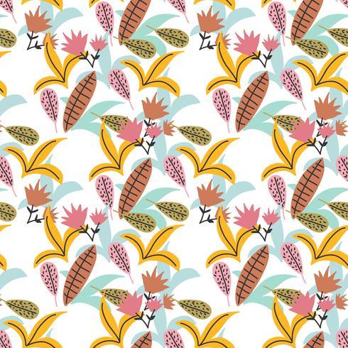 Vector de patrón floral