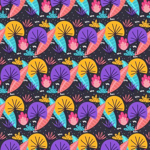 Patrón de flores de colores