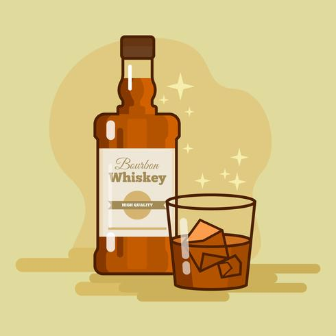 Bourbon Whiskey Vector Illustration