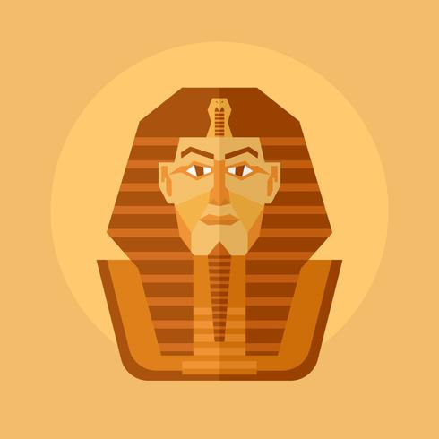 Illustrazione di vettore del faraone egiziano
