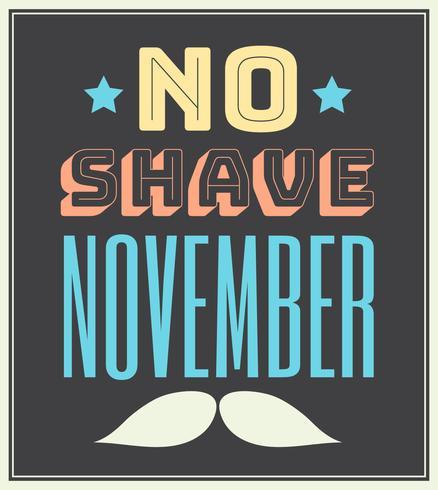 Novembre sans rasage