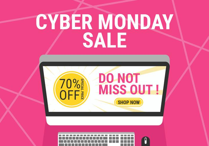 80d6dbfd1f Cyber Monday Social Media Post - Download Free Vector Art