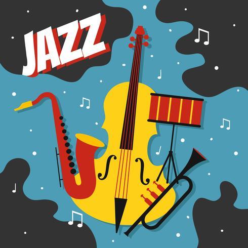jazz poster vector