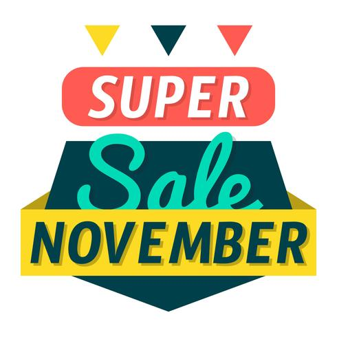 Super Sale november vector