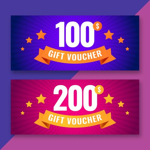 Gift voucher template coupons vector