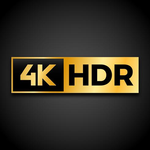 Símbolo 4K Ultra HD vector