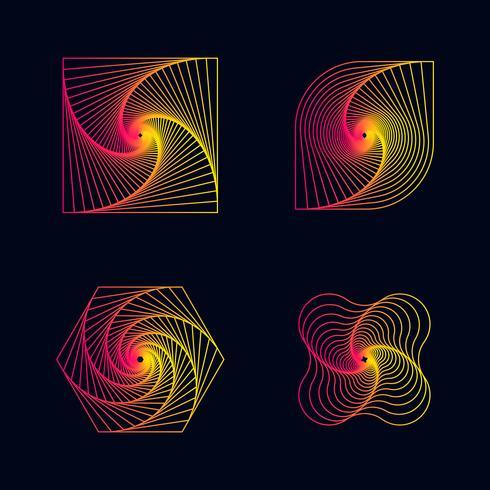 Verlaufslinie Spirale entwirft Elemente vektor