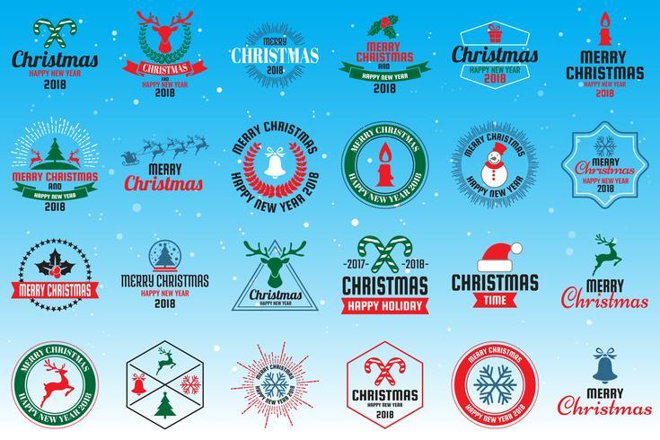 Christmas logo Vector for banner