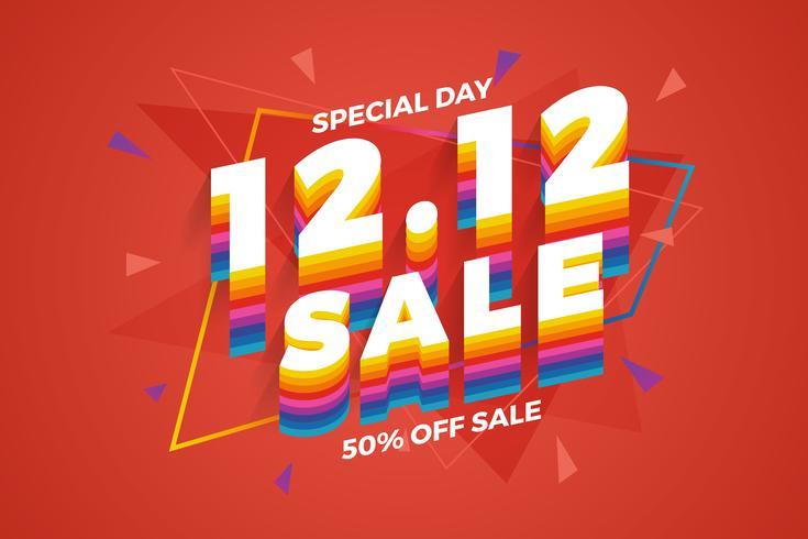 12.12 Einkaufstag Verkauf Banner Hintergrund.
