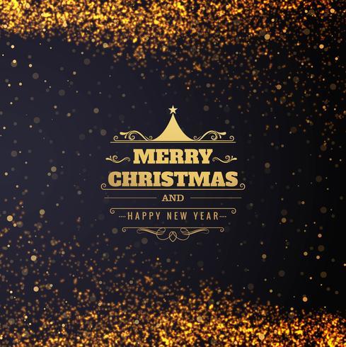 Diseño hermoso de la tarjeta de la Feliz Navidad de los brillos