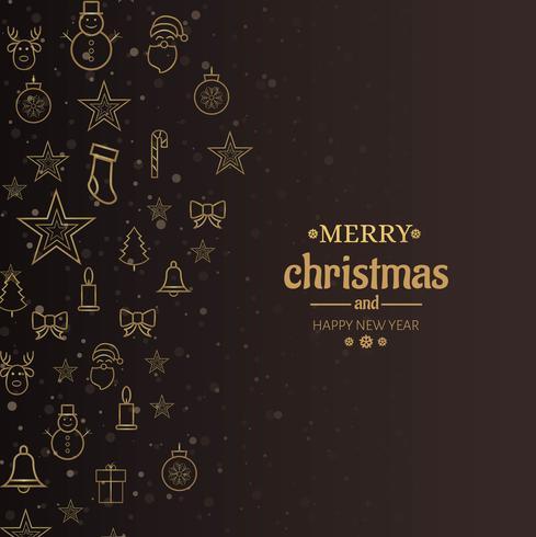 Vector de fondo decorativo de tarjeta de feliz Navidad