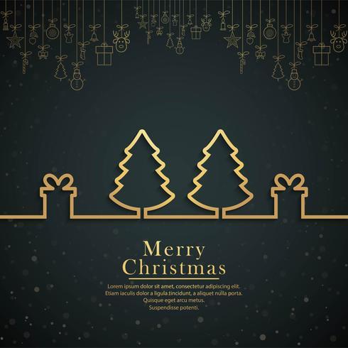 Vector feliz del fondo del festival del árbol de navidad feliz