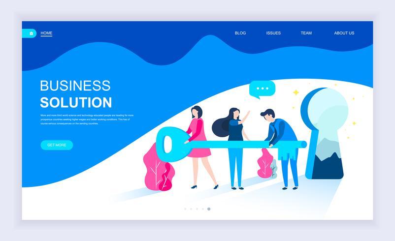 Moderno concetto di design piatto di Business Solution