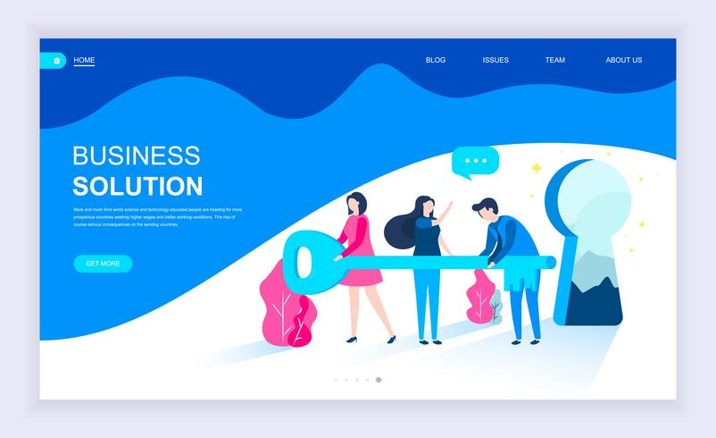 Modern flat design concept of Business Solution