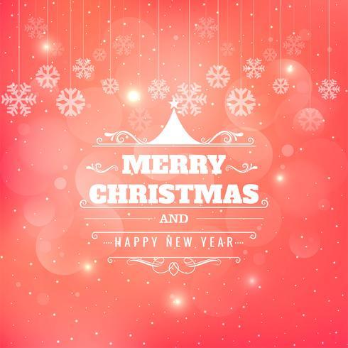 Carte de joyeux Noël de beaux paillettes avec motif de flocon de neige