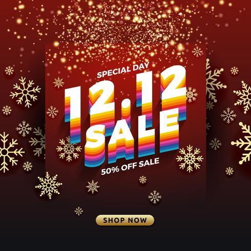 12.12 Fondo de banner de venta día de compras.